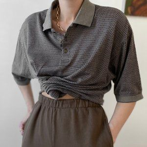 Vintage Relaxed Patterned Polo